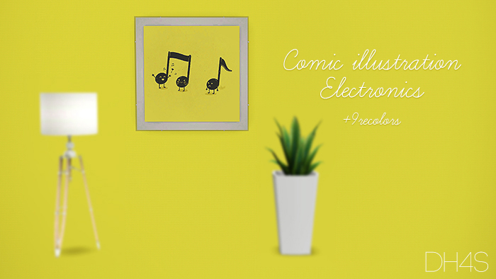 Comic illustration electronics