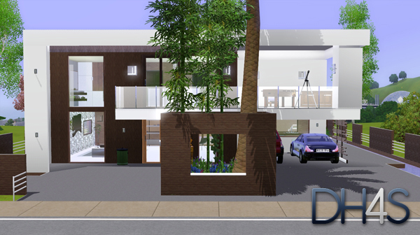 Maison Sims 3 Moderne. Trendy Hd Wallpapers Sims Maison Moderne With ...