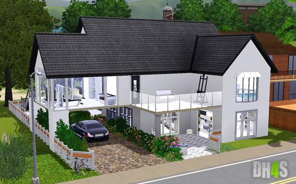 sims 4 maison moderne ventana blog. Black Bedroom Furniture Sets. Home Design Ideas