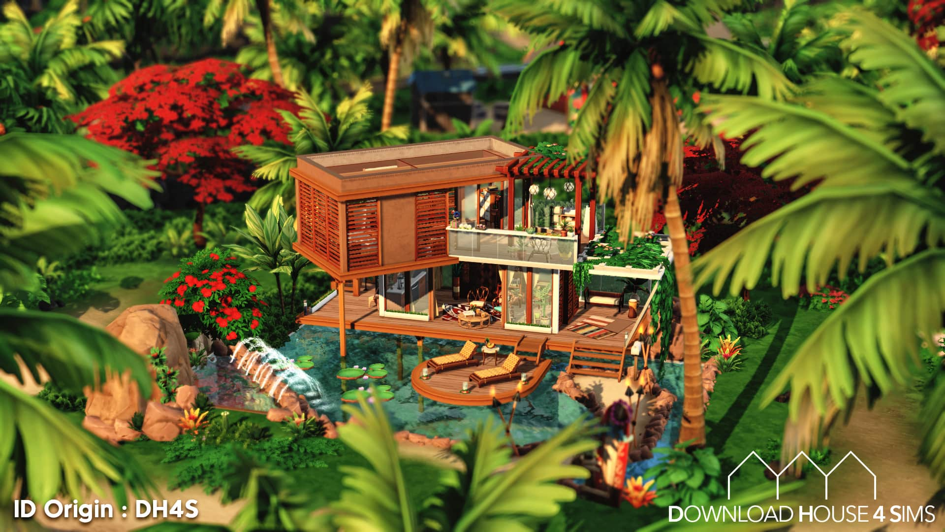 Download House for sims Single Beach House