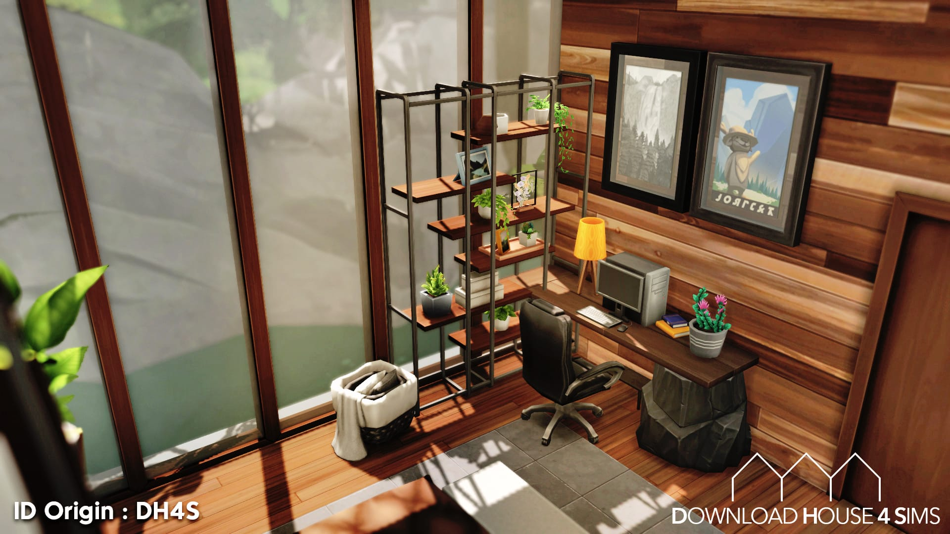 Download House for sims - suspended modern house