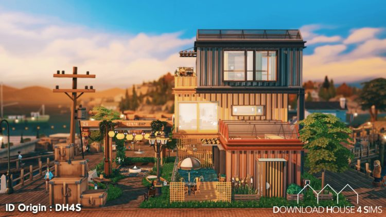 DH4S-Download-house-for-sims-dock-container-eco-house-1