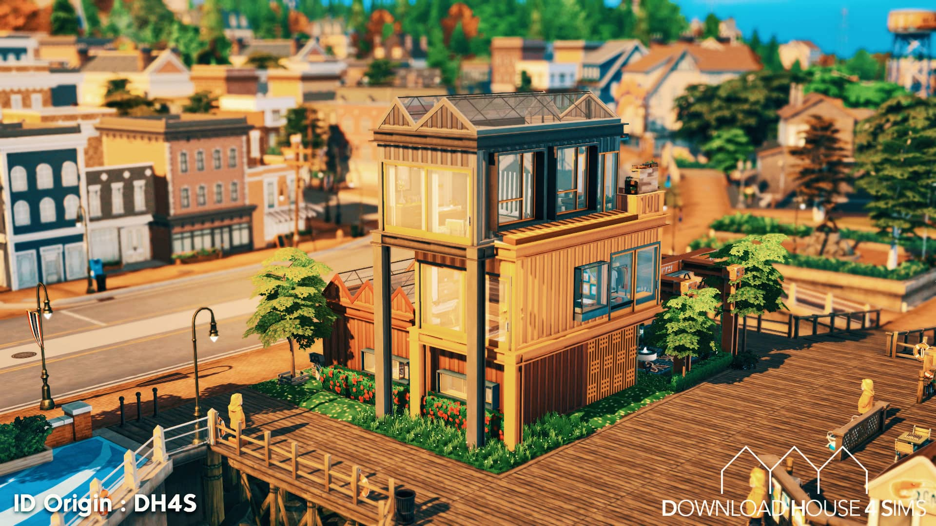 DH4S-Download-house-for-sims-dock-container-eco-house-2