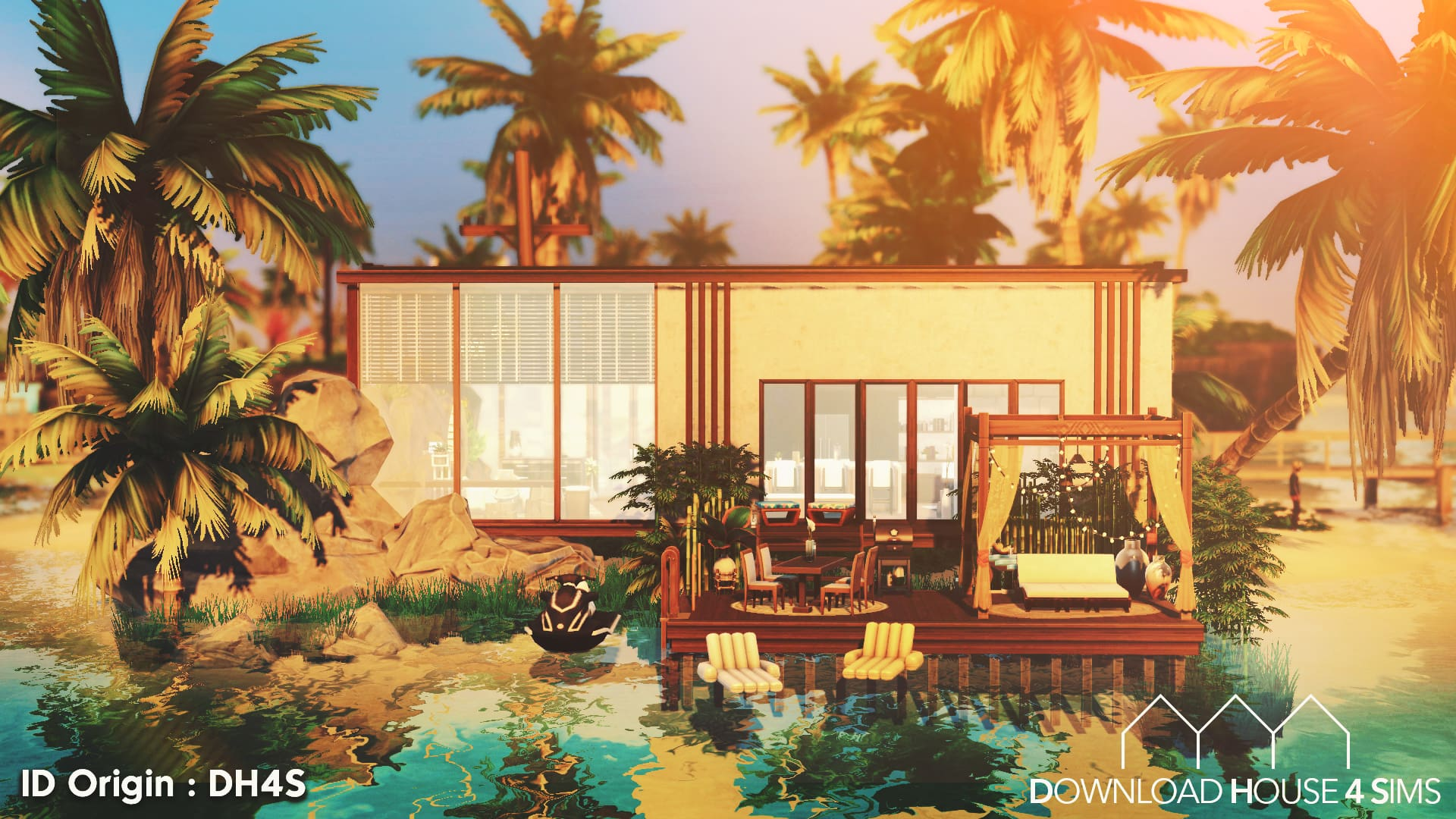 Ultra-modern-beach-house-sims-build-free-download-house-for-sims-11
