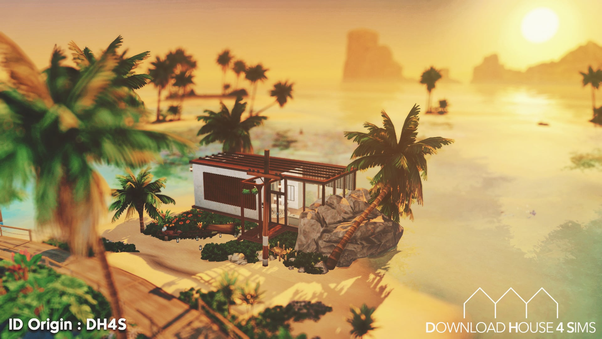 Ultra-modern-beach-house-sims-build-free-download-house-for-sims-2