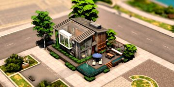 Eco Urban City House sims 4 download télécharger maison
