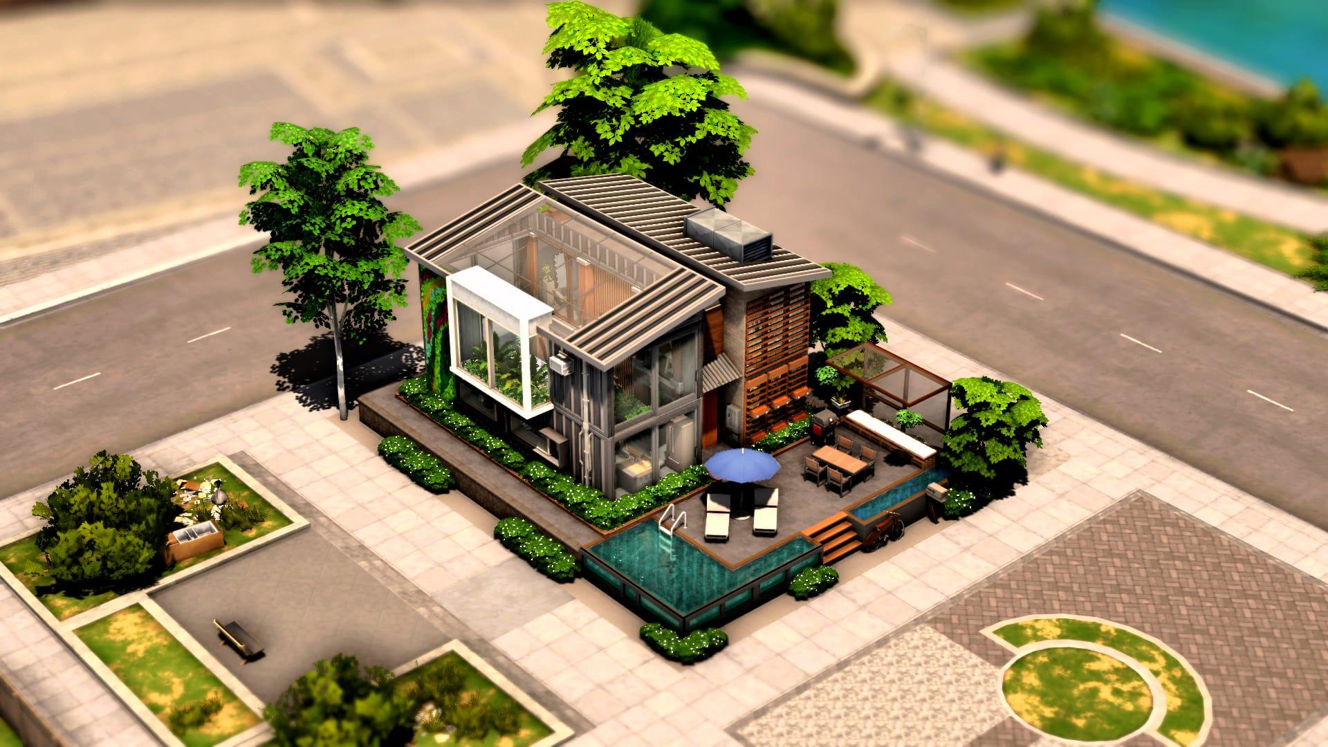 Eco Urban City House sims 4 download télécharger maison