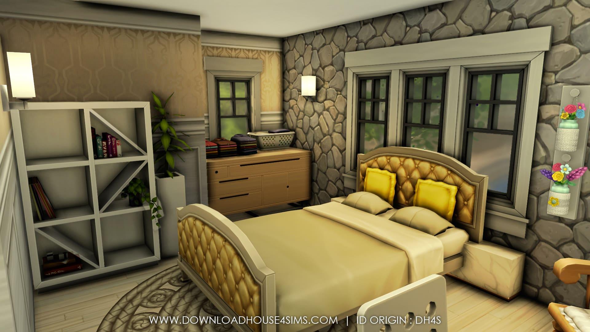 Modern Cottage maison sims 4 à télécharger house download