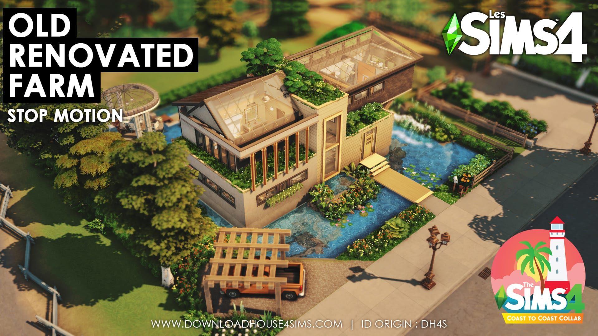 Old Renovated Farm Télécharger maison sims 4 download house (4)